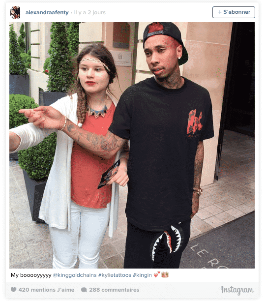 Kylie Jenner: Tyga se fait tatouer son prénom par amour