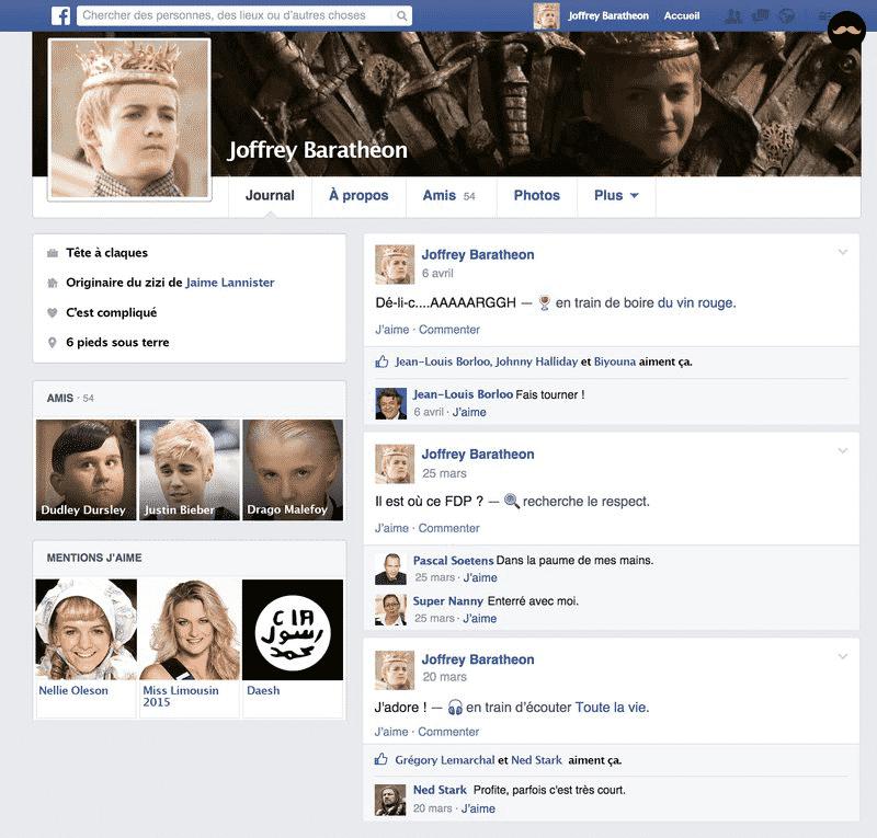 Game Of Thrones Saison 5 Découvrez Le Profil Facebook Des Personnages4