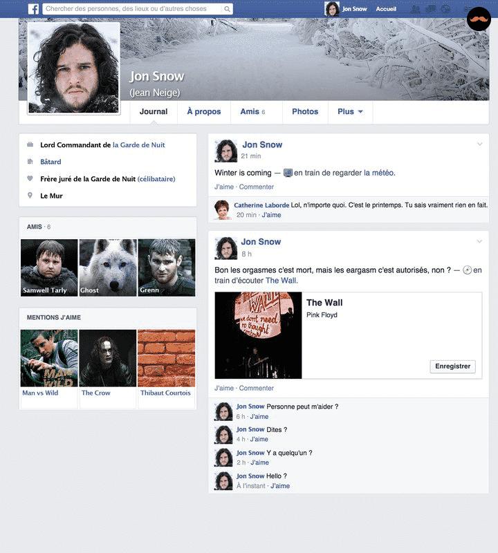 Game Of Thrones Saison 5 Découvrez Le Profil Facebook Des Personnages5