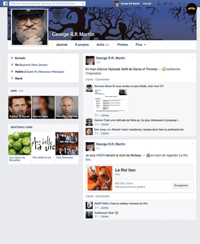 Game Of Thrones Saison 5 Découvrez Le Profil Facebook Des Personnages6