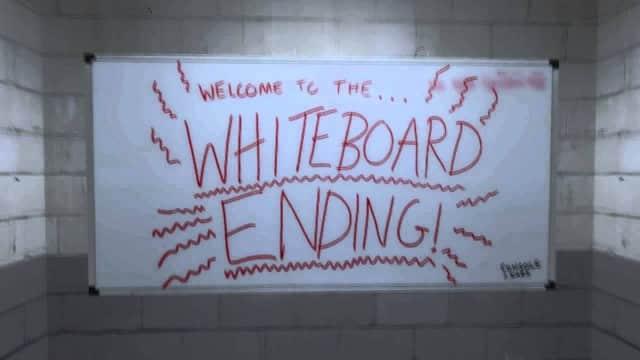 La fin du tableau blanc.