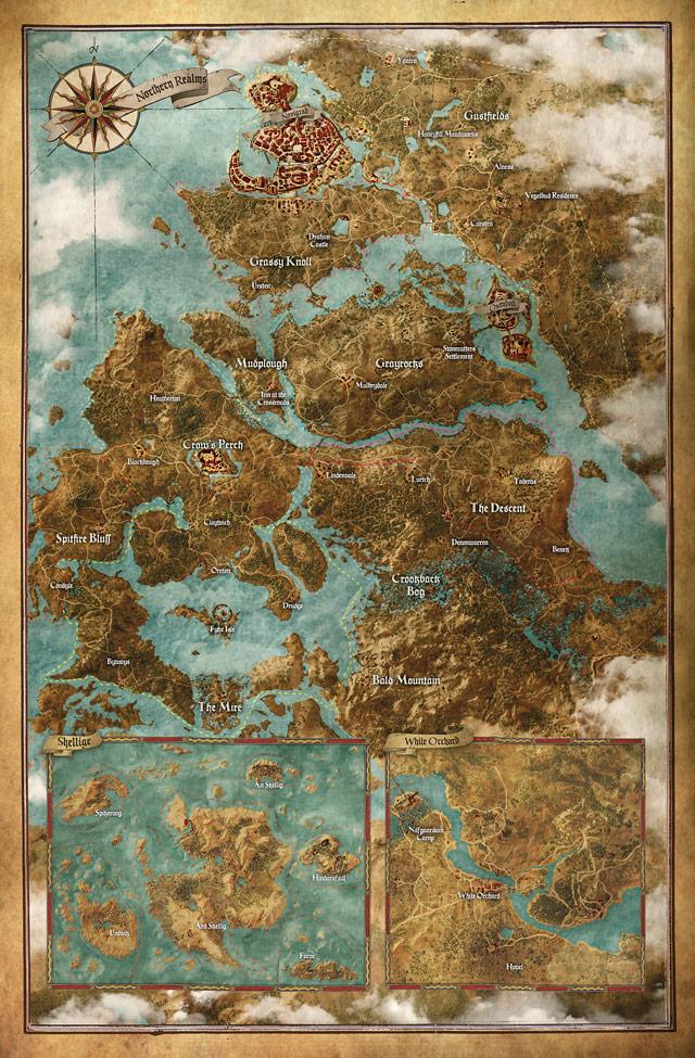 The Witcher 3: la carte sera plus grande que celle de GTA V, Skyrim, ou encore Far Cry 4