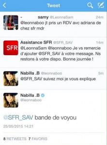 Nabillapousse un coup de gueule contre SFR sur Twitter !