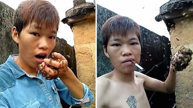 Chine: il met des abeilles vivantes dans sa bouche et sur son torse !