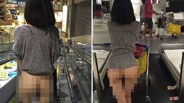 Insolite: une femme fait ses courses à moitié nue chez Ikea!