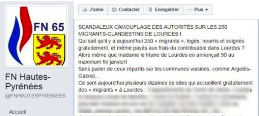 Front National: des militants dévoilent les adresses de réfugiés sur Facebook