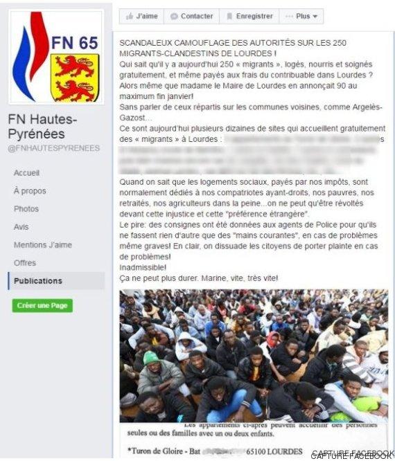 Des membres du FN ont publié l'adresse des appartements où sont logés les réfugiés de Lourdes. Un post qui a vu des commentaires racistes déferler.
