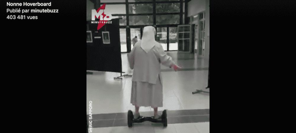 Insolite: une nonne de 77 ans part voter en hoverboard