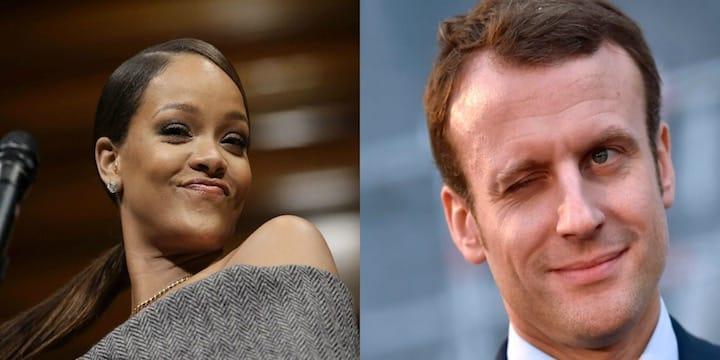 Rihanna apostrophe Emmanuel Macron sur Twitter !