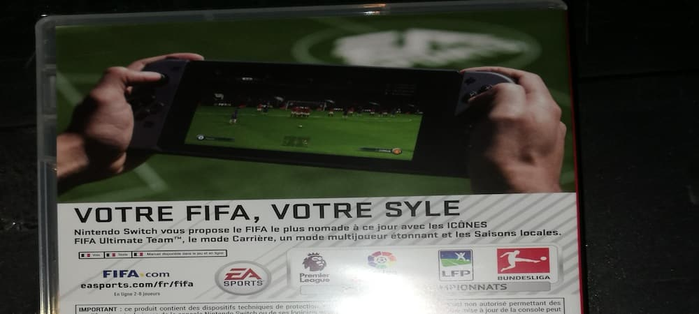 FIFA 18: faute d'orthographe sur la jaquette Nintendo Switch !
