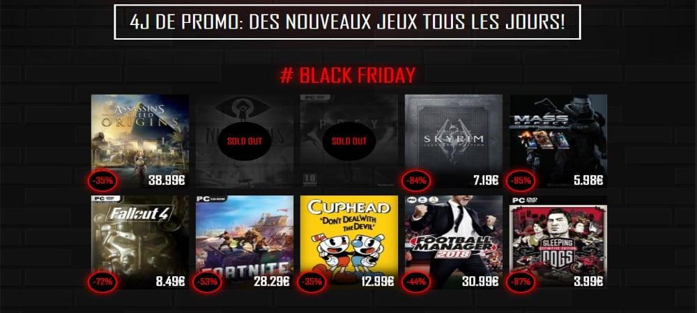 Black Friday: Des jeux à prix cassés sur Instant Gaming !