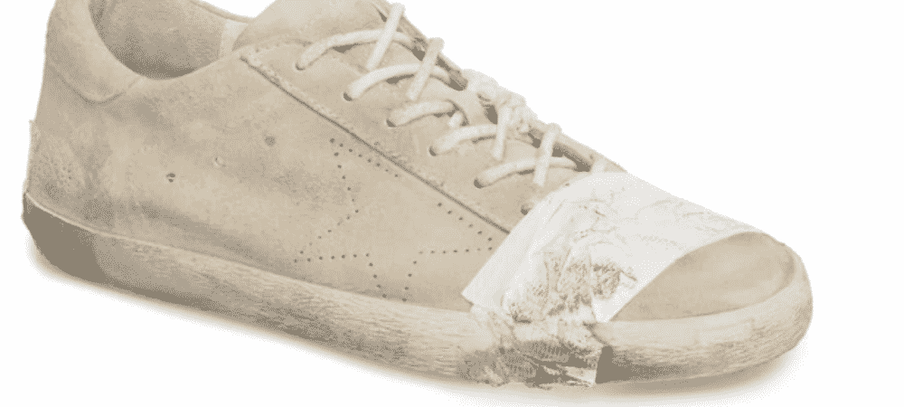 Golden Goose: Une paire de baskets avec du scotch pour 530 dollars !