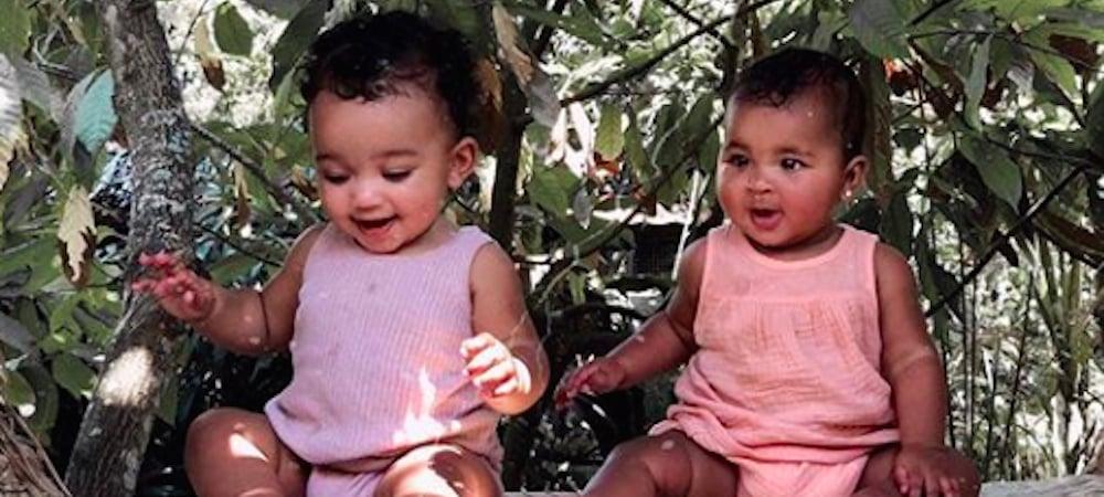 Kim Kardashian poste une photo adorable de True et Chicago à Bali !