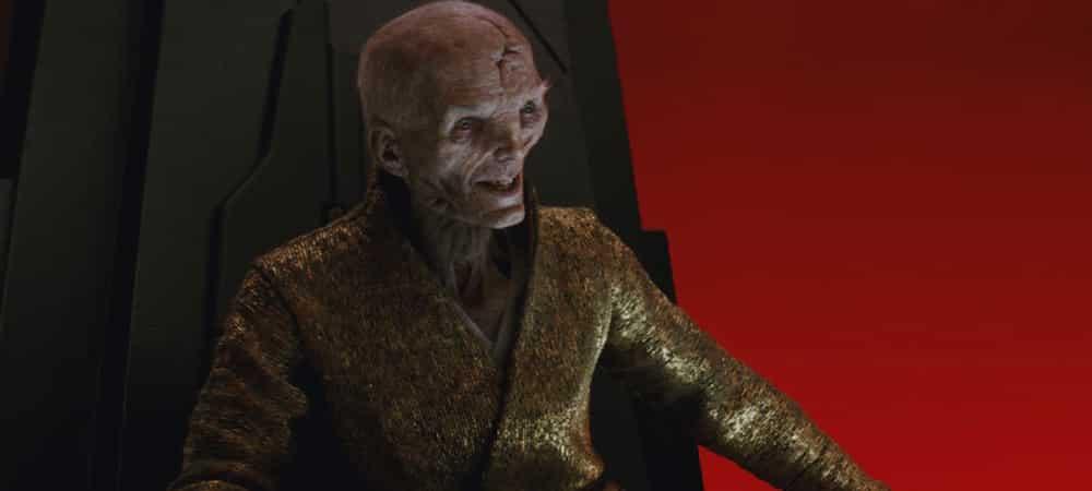 Star Wars 9: Le personnage Snoke de retour à l'écran en 2019 ?
