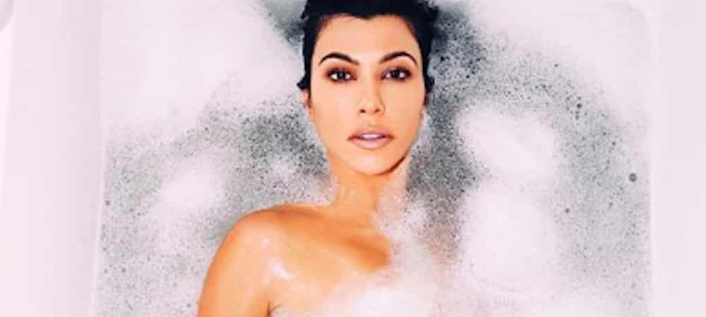 Instagram: Kourtney Kardashian s'affiche complètement nue dans son bain !
