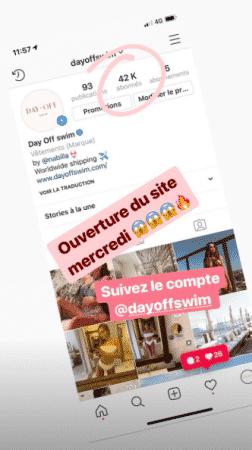 Nabilla bat un nouveau record sur son compte Instagram DayoffSwim !
