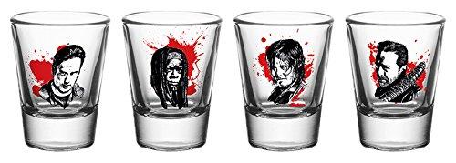 16 4 verres à shooter à l'effigie des personnages principaux de la série