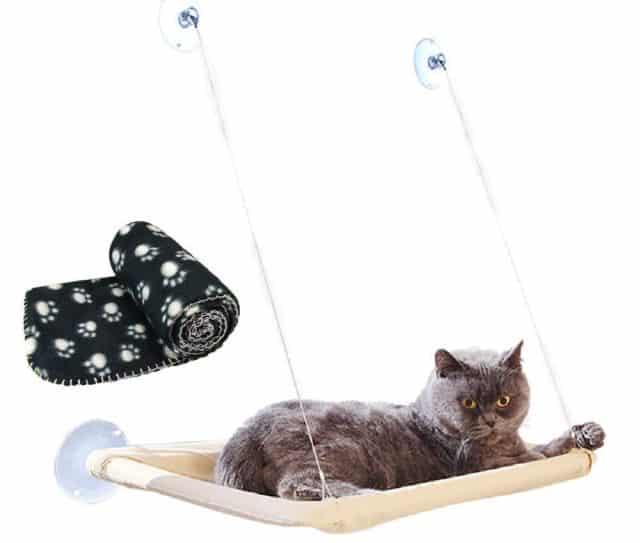 2 Votre chat est une grosse feignasse. Offrez lui l'occasion de se détendre dans un hamac accroché au mur et livré avec sa couverture