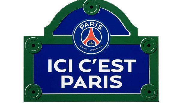 4 Indique à tes visiteurs qu'ils sont dans l'appartement d'un vrai supporter du Paris Saint Germain avec cette belle plaque