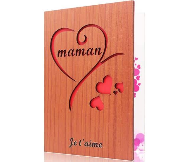 7 Pour la fête des mères, si tu n'as pas d'idée tu peux aussi lui offrir juste cette belle carte de vœux