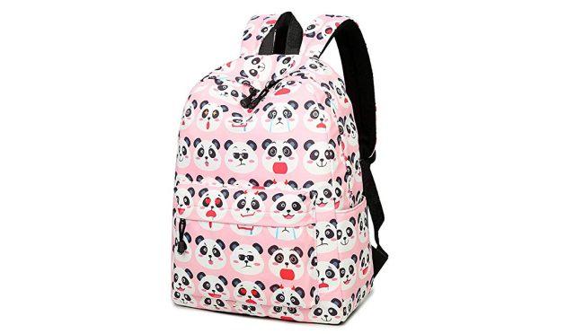 9 Ce sac à dos panda avec plein de petits pandas dessus vous fera craquer. Il pourra servir de sac de cours ou aussi de sac de sport