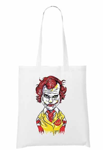 9 Et si on mixait Joker et Ronald Mc Donald sur un tote bag