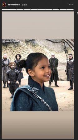 Booba transforme sa fille en Daenerys de Game of Thrones !