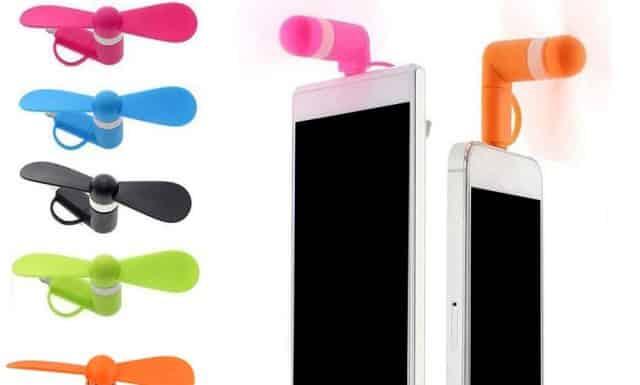 1 Pour te rafraîchir partout à l'aide de ton smartphone, il te faut ce ventilateur Mini USB. Fini la chaleur insupportable dans la voiture pendant les embouteillages de retour de plage