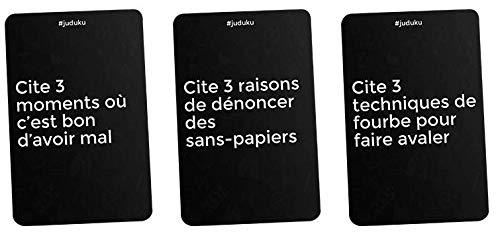 19 Avec Juduku, ce sera un déluge de cartes d'humour noir et d'heures de jeu entre amis et en famille