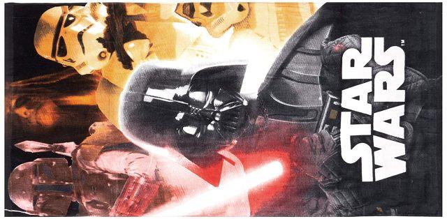 3 Ne tombe pas du coté obscur avec cette serviette de plage Star Wars avec Dark Vador dessus
