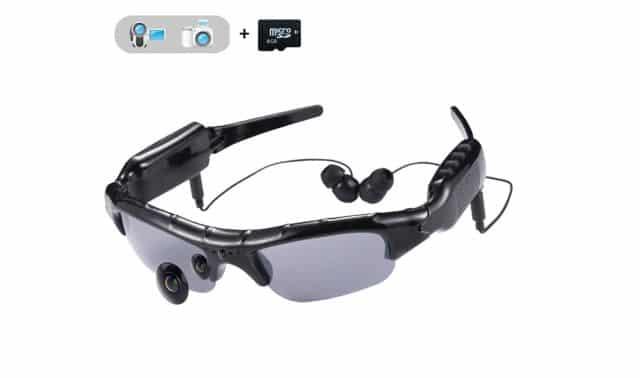 7 Ces lunettes hyper connectées te permettront d'écouter de la musique. Mais aussi de filmer tout ce qui se passe autour de toi. Très pratique pendant les balades en vélo