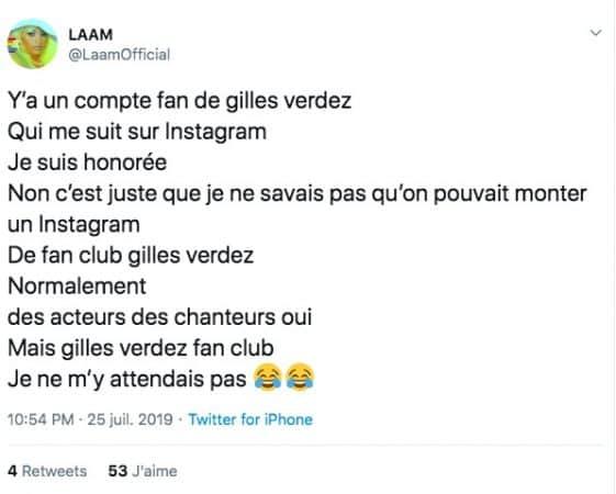 Gilles Verdez (TPMP) se fait clasher par la chanteuse Lââm sur Twitter !