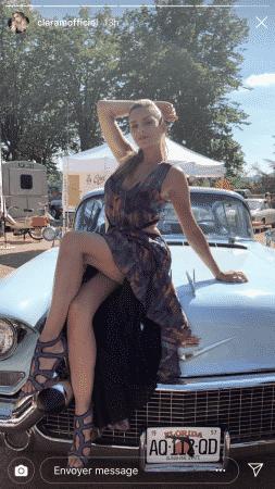 Clara Morgane dévoile ses longues jambes dans une superbe robe rétro ! (PHOTO)
