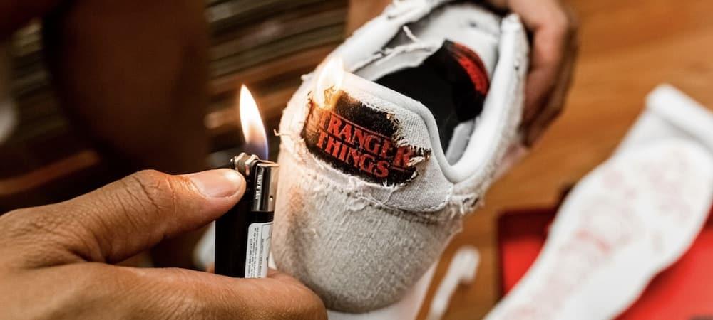 Nike: brûle tes sneakers pour révéler le logo Stranger Things ! (PHOTO)