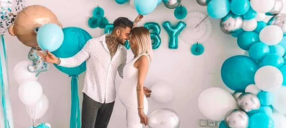 Ballon annonce de sexe avec confettis rose 60cm