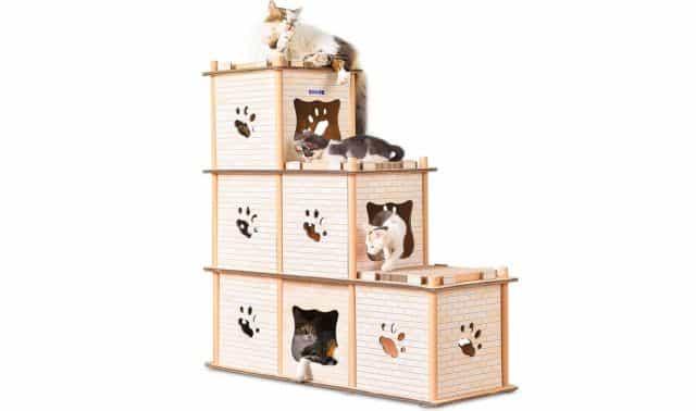 13 Et si vous choisissiez ce Chat Paradise. Il va pouvoir monter, descendre, gratter et dormir dans rien casser chez vous