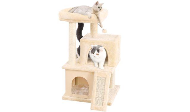 15 Arbre à Chat avec griffoir et poteaux en sisal, c'est le paradis pour ton animal préféré