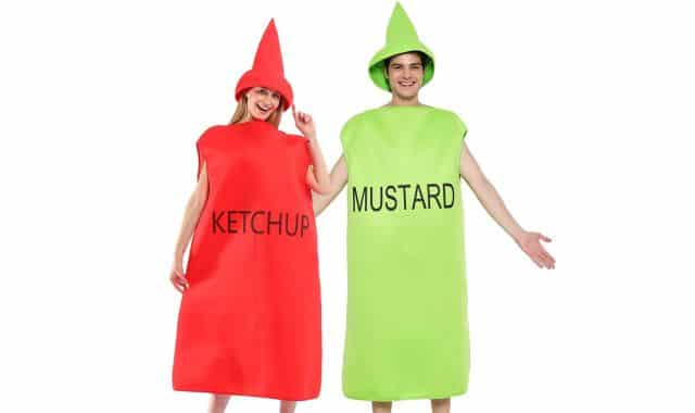 17 Tu vas à une soirée de l'horreur en couple, déguisez vous en moutarde et ketchup. Vous allez marquer cette soirée à jamais