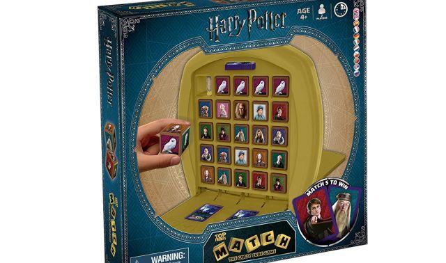 7 Joue avec tes héros préférés de la saga du petit sorcier. Sois le premier joueur à aligner 5 cubes identiques à l'horizontale, à la verticale ou aussi en diagonale pour gagner la partie