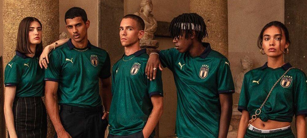 Foot: Puma dévoile le nouveau maillot vert de l'Italie !