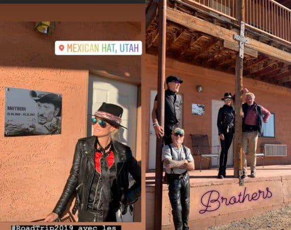 Laeticia Hallyday part sur les traces de Johnny dans l'Ouest américain !