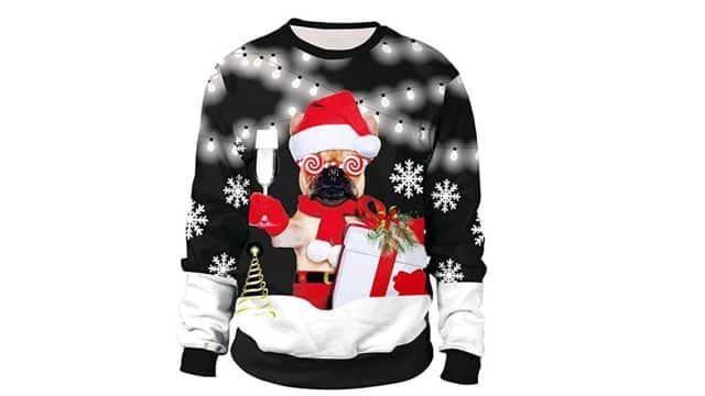 13 Pour la journée des pulls moches de Noël, vous pouvez aussi être drôle et décalé. Qui vous en empêche