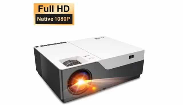 19 ARTLII Performance Videoprojecteur Full HD Stone, 1080P Natif retroprojecteur, Écran 300'' projecteur, 280ANSI lumen projecteur compatible avec TV Stick, HDMI, VGA, USB,iphone Android pour home cinema