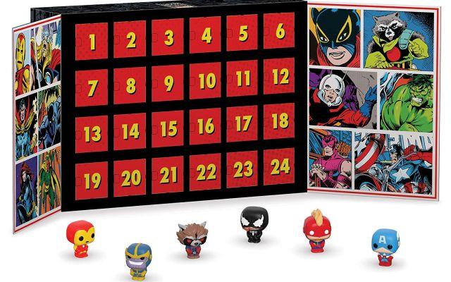 3 Le calendrier de l'avent parfait pour les fans de Marvel. Il y a 24 petites figurines Funko à collectionner. Elles sont trop mignonnes