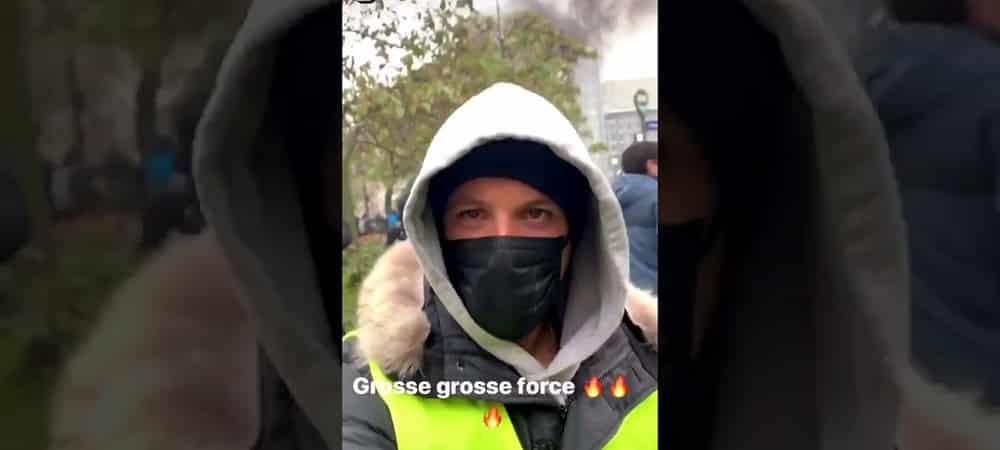 Nekfeu participe à la manifestation parisienne des Gilets Jaunes ! (VIDEO)
