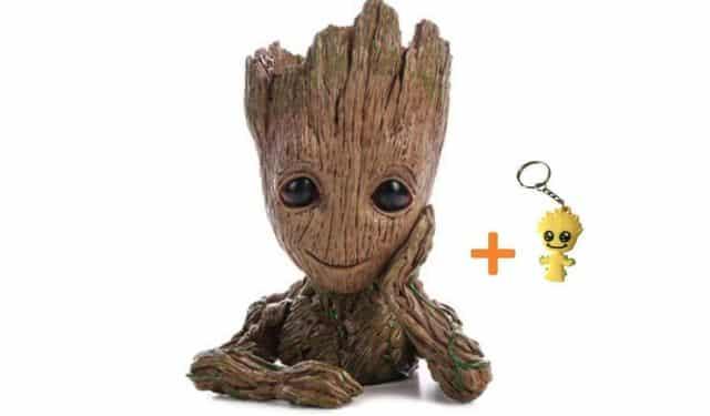 12 Les fans de Marvel adorent tous Groot. Aidez les à avoir la main verte avec ce pot de fleur original