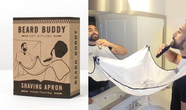 Bavoir à barbe - Beard Buddy. Pour enfin lutter contre les poils de Monsieur qui s'éparpillent partout dans la salle de bain. Beurk