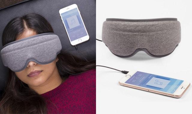 Masque de nuit musical, pour se relaxer et bercer ses nuits. Transportez-vous grâce à votre musique préférée dans votre cocon de bien-être
