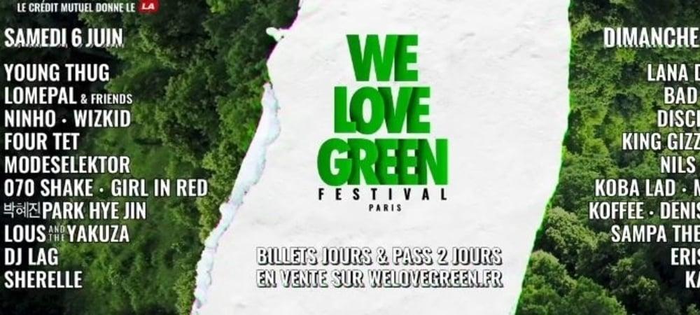 Ninho, Koba LaD, Young Thug... Le line up du We Love Green 2020 se dévoile !