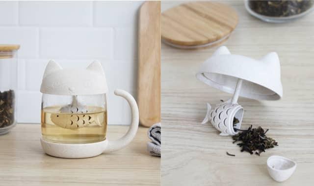 Tasse à thé Chat, pour déguster son thé bien chaud et ronronner de plaisir au coin du feu